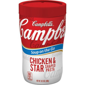 Campbell's, at Hand, Chicken & Stars, 10.75 oz. Microwavable Cup (1 Count)