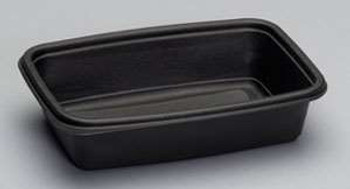 Genpak, 8.75 Inch X 6.125 Inch X 2 Inch Black 32 Ounce Microwave Safe Container, (300 count)