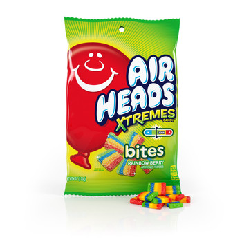 Airheads, Xtreme Bites Rainbow Berry Candy, 6 oz. (12 count)