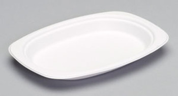 Genpak, Harvest Fiber 6.5 Inch X 9 Inch Compostable Medium Oval Platter, (1000 count)