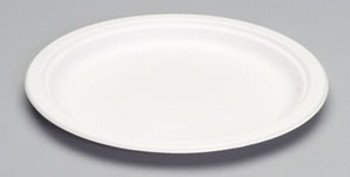 Genpak, Harvest Fiber Compostable 10 Inch Natural White Plate, (500 count)