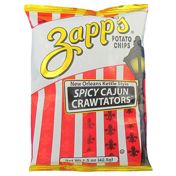 Zapp's Potato Chips, Spicy Cajun Crawtator, 1.5 oz. (60 count)
