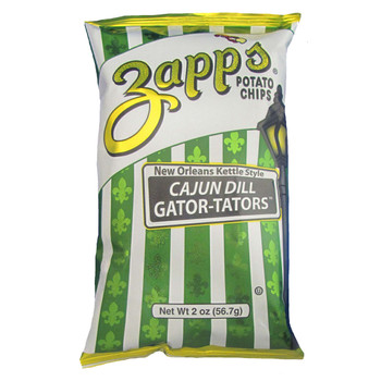 Zapp's Potato Chips, Cajun Dill Gatortator, 2 oz. (25 count)