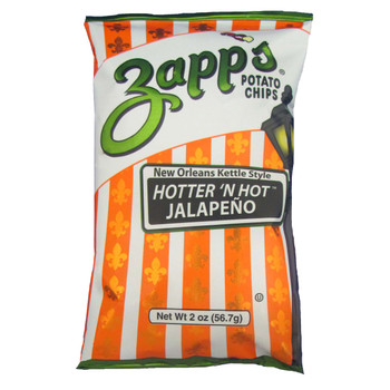 Zapp's Potato Chips, Hotter 'N Hot Jalapeno, 1.5 oz. (60 count)