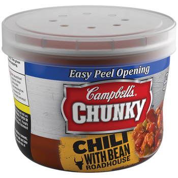 Campbell's Chunky Chili, Roadhouse Beef & Bean, 15.25 oz. Microwavable Bowl (1 Count)
