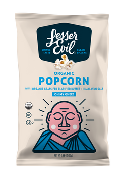 Lesser Evil, Oh My Ghee Organic Popcorn, .88 oz (18 count)