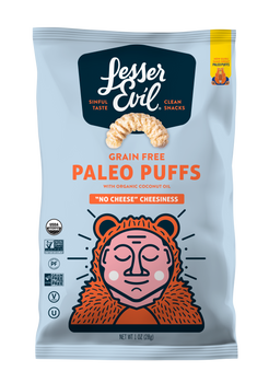 Lesser Evil, No Cheese Cheesiness Paleo Puffs, 1 oz (24 count)
