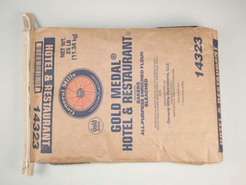 Gold Medal, Hotel & Restaurant Bakers All Purpose Enriched Bleached Flour, 25 lb +(1 count)