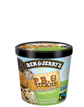 Ben & Jerry's Non-Dairy P.B. & Cookies Ice Cream Mini Cup, 3.60 oz. (12 count)
