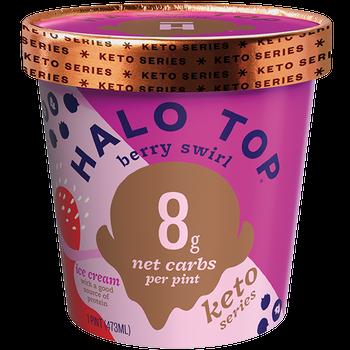 Halo Top, Keto Berry Swirl, Pint (1 Count)
