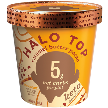 Halo Top, Keto Caramel Butter Pecan, Pint (1 Count)