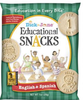 Dick and Jane, English & Spanish Educational Snack Crackers, 1 oz. (120 Count)