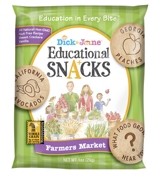Dick and Jane, Farmers Market Vanilla Educational Snack Crackers, 1 oz. (120 Count)