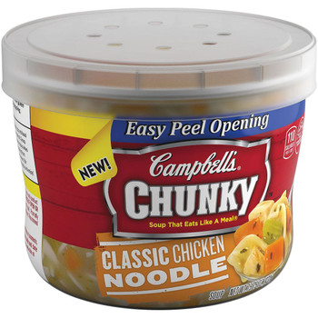 Campbell's, Chunky Soup, Classic Chicken Noodle, 15.25 oz. Microwavable Bowl (1 Count)