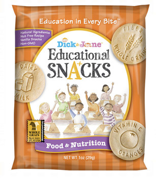 Dick and Jane, Food & Nutrition Educational Snack Crackers, 1 oz. (120 Count)