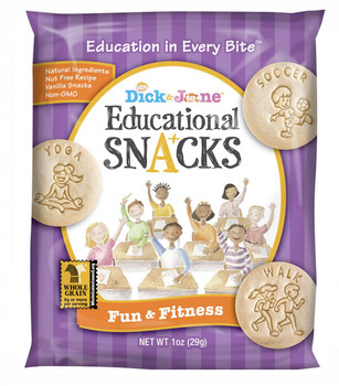 Dick and Jane, Fun & Fitness Educational Snack Crackers, 1 oz. (120 Count)