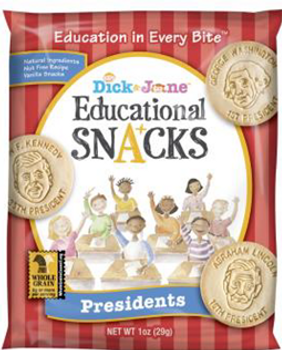 Dick and Jane, President Educational Snack Crackers, 1 oz. (120 Count)