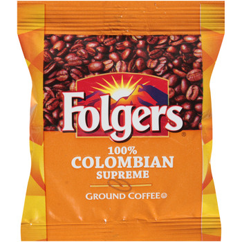 Folgers, Caffeinated Fraction Pack Colombian Coffee, 1.75 oz. (100 Count)