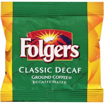 Folgers, Decaffeinated Classic Roast Coffee Fraction Pack, .9 oz. (92 Count)