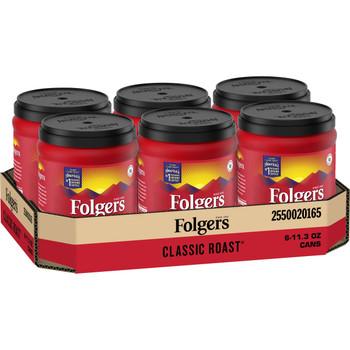 Folgers, Caffeine Classic Roast Coffee, 11.3 oz. (6 Count)