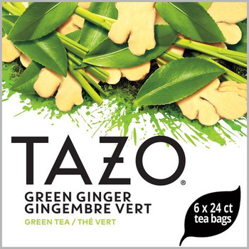 Tazo, Green Ginger Tea Bag, 24 Bags, (6 Count)