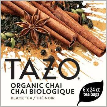 Tazo, Organic Chai Tea Bag, 24 Bags, (6 Count)