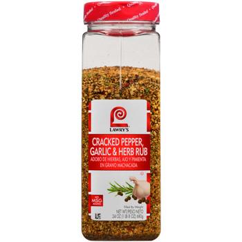 Lawry's, Cracked Pepper Garlic Herb Rub, 24 oz. (6 Count)