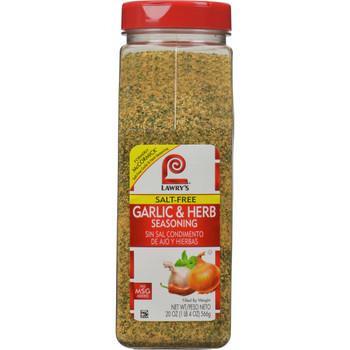 Lawry's, Garlic & Herb Seasoning, 20 oz. (6 Count)