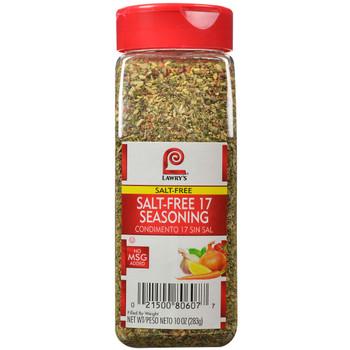 Lawry's, Salt Free 17 Seasoning, 10 oz. (6 Count)