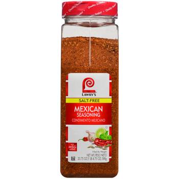 Lawry's, Salt Free Mexican Seasoning, 20.75 oz. (6 Count)