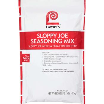 Lawry's, Sloppy Joe Seasoning Mix, 15 oz. (6 Count)