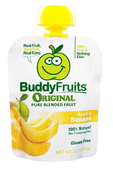 Buddy Fruits, Pure Blended Banana Snack, 3.2 oz. (18 Count)