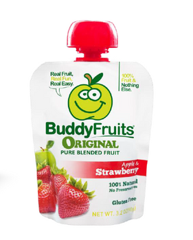 Buddy Fruits, Pure Blended Strawberry Snack, 3.2 oz. (18 Count)