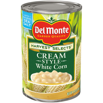 Del Monte, White Cream Style Corn, 14.75 oz. (12 Count)