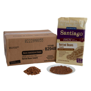 Santiago, Smooth Refried Beans, 29.77 oz. (6 Count)