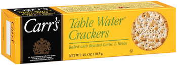 Carr's, Table Water Crackers with Roasted Garlic & Herbs, 4.25 oz. Box (1 Count)