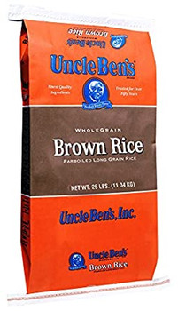 Uncle Ben's, Non GMO Whole Grain Brown Parboiled Rice, 25 lb. (1 Count)