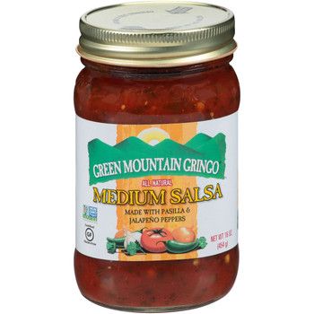 Green Mountain Gringo, Medium Salsa, 16 oz. (12 Count)