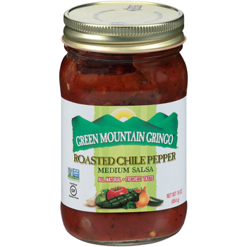 Green Mountain Gringo, Roasted Chile Pepper Salsa, 16 oz. (12 Count)