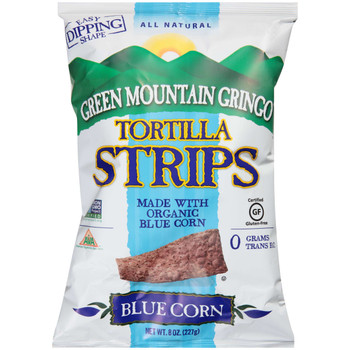 Green Mountain Gringo, Organic Blue Tortilla Strips, 8 oz. (12 Count)