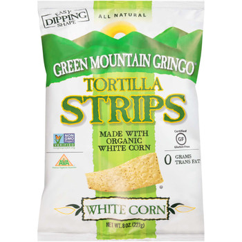 Green Mountain Gringo, Organic White Tortilla Strips, 8 oz. (12 Count)