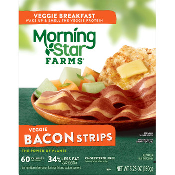 Morningstar Farms, Breakfast Bacon Strips, 5.25 oz. (12 Count)