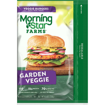 Morningstar Farms, Garden Veggie Burger Patties, 9.5 oz. (8 Count)