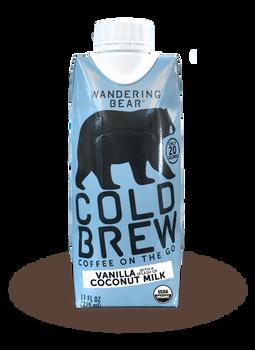 Wandering Bear, Fair Trade Vanilla Cold Brew Coffee, 11 oz. (12 Count)