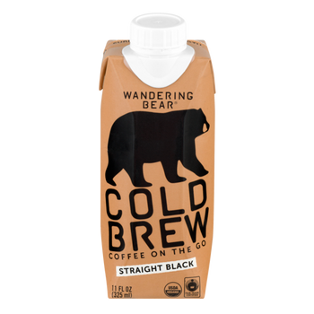 Wandering Bear, Black Cold Brew Coffee, 11 oz. (12 Count)