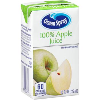 Ocean Spray, 100% Apple Juice, 4.2 oz. (40 Count)