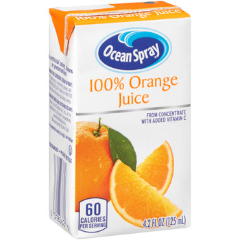Ocean Spray, 100% Orange Juice, 4.2 oz. (40 Count)