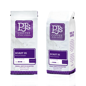 PJ'S Coffee of New Orleans, Roast 35, Whole Bean, 1 lb. (6 Count)
