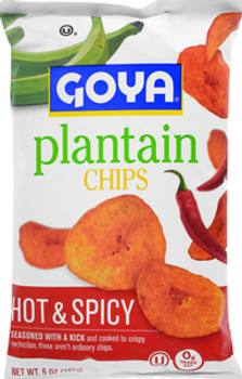 Goya, Hot & Spicy Plantain Chips, 5 oz. (12 Count)