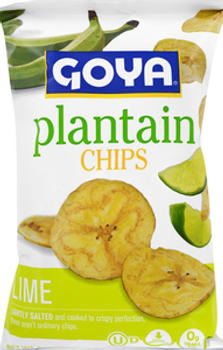 Goya, Lime  Plantain Chips, 5 oz. (12 Count)